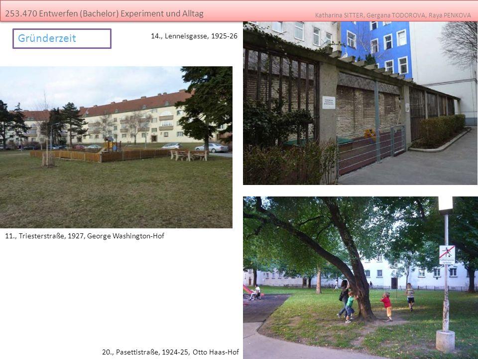 Gründerzeit 253.470 Entwerfen (Bachelor) Experiment und Alltag