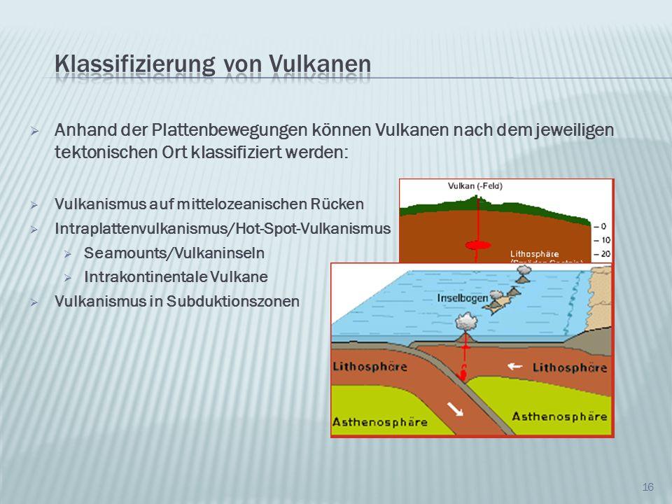 Klassifizierung von Vulkanen
