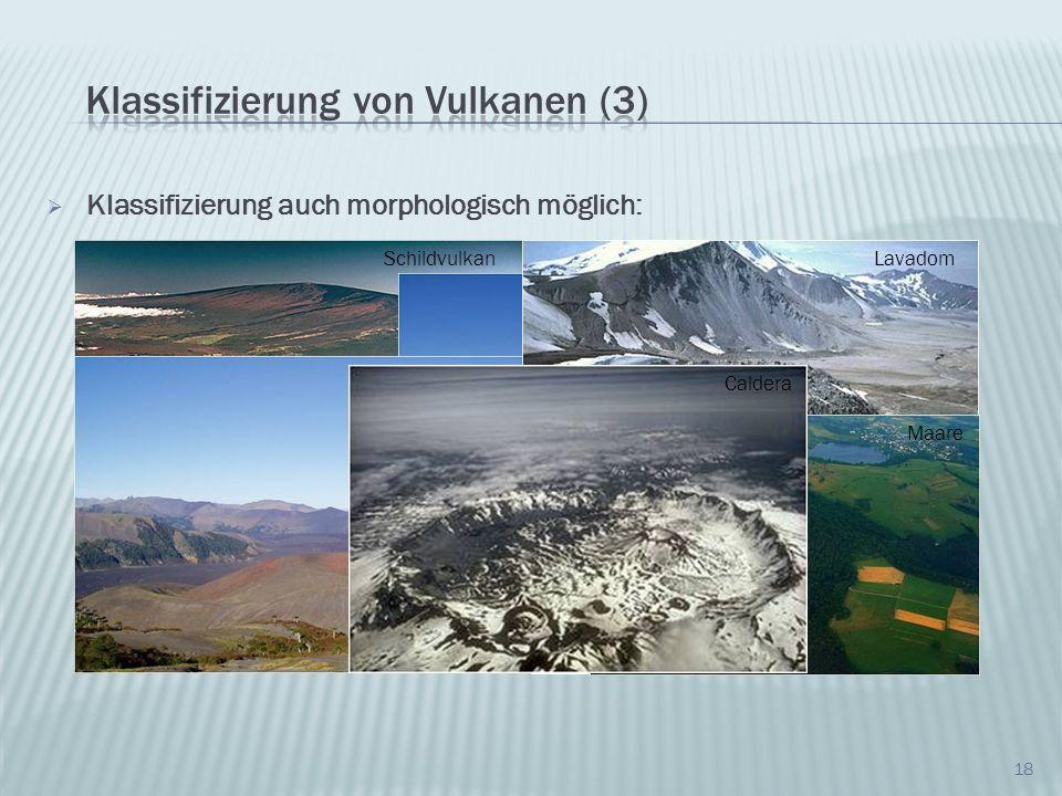 Klassifizierung von Vulkanen (3)