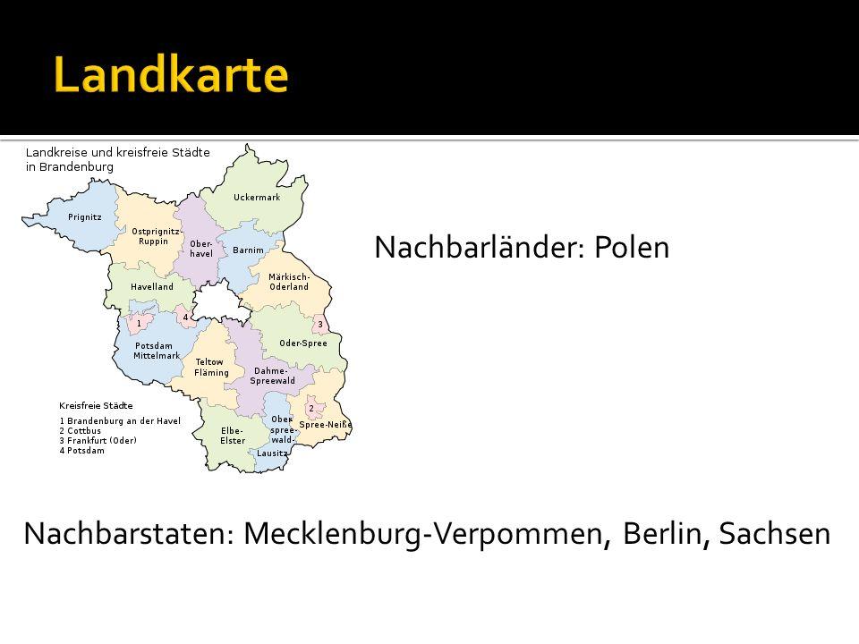 Landkarte Nachbarländer: Polen