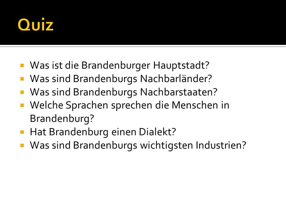Quiz Was ist die Brandenburger Hauptstadt