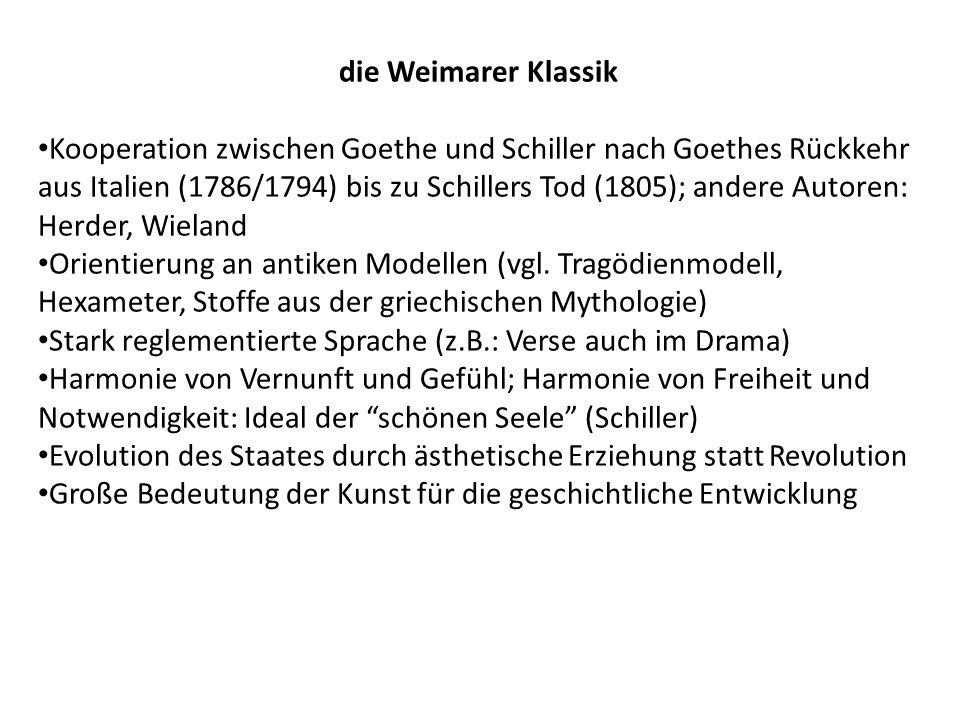 die Weimarer Klassik