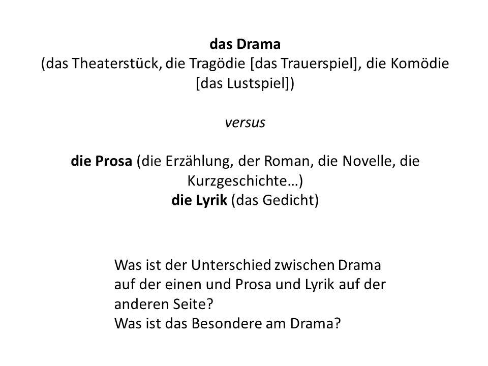 die Prosa (die Erzählung, der Roman, die Novelle, die Kurzgeschichte…)