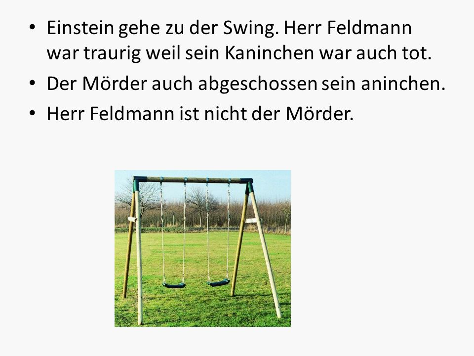 Einstein gehe zu der Swing