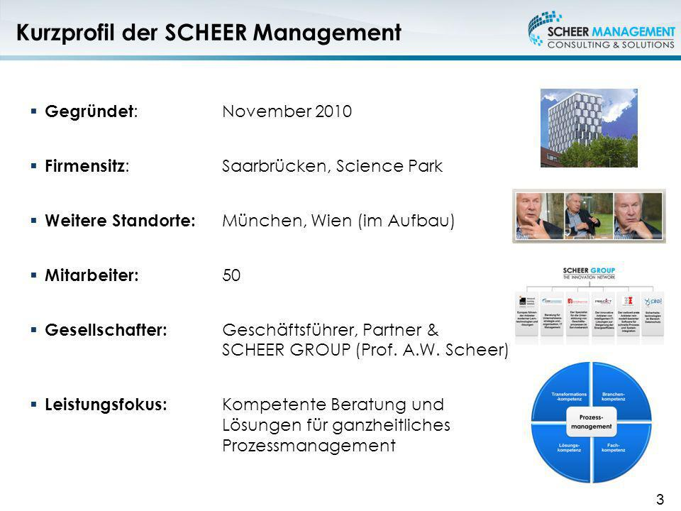 Kurzprofil der SCHEER Management