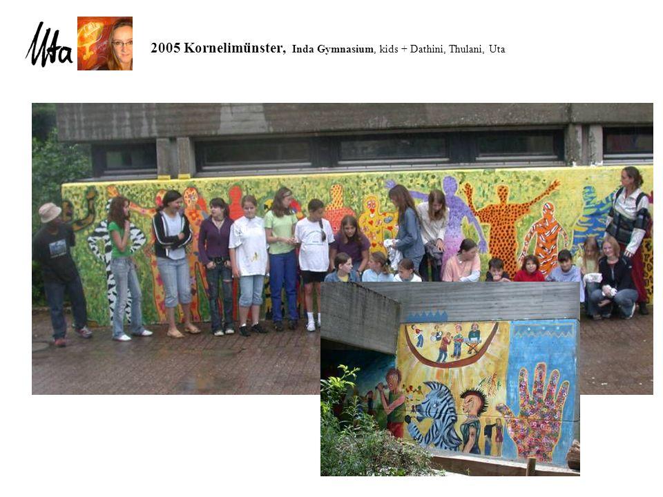 2005 Kornelimünster, Inda Gymnasium, kids + Dathini, Thulani, Uta