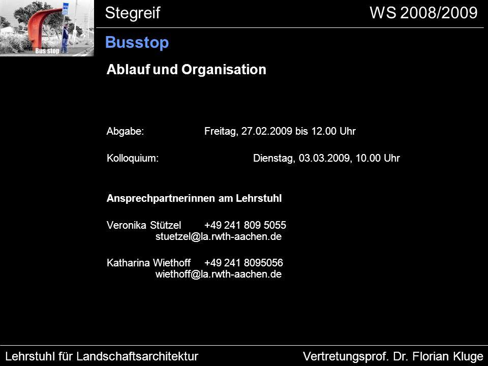 Ablauf und Organisation