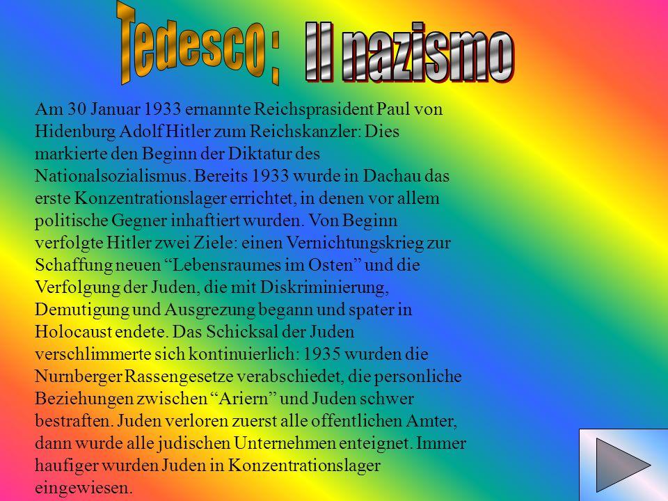 Tedesco :Il nazismo.