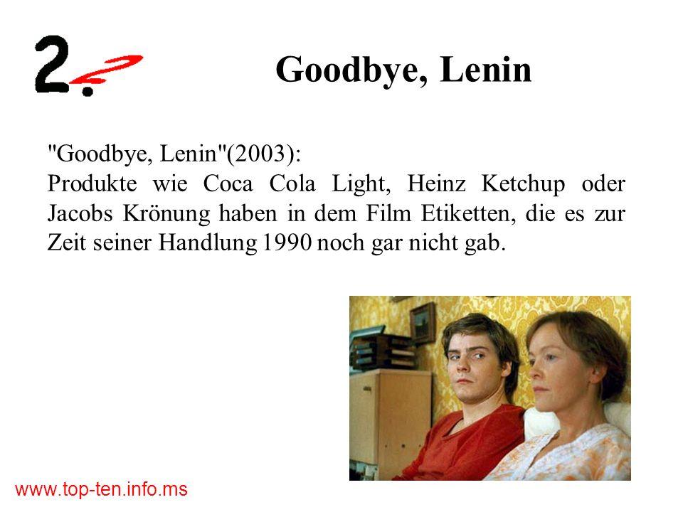 Goodbye, Lenin Goodbye, Lenin (2003):