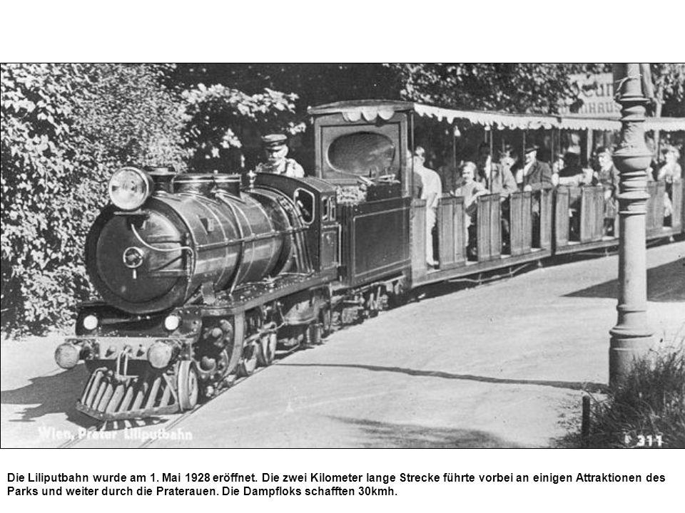 Die Liliputbahn wurde am 1. Mai 1928 eröffnet