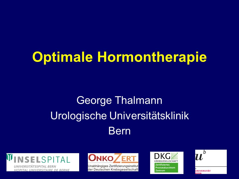 Optimale Hormontherapie