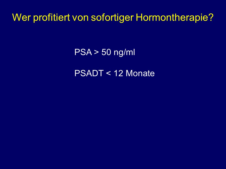 Wer profitiert von sofortiger Hormontherapie