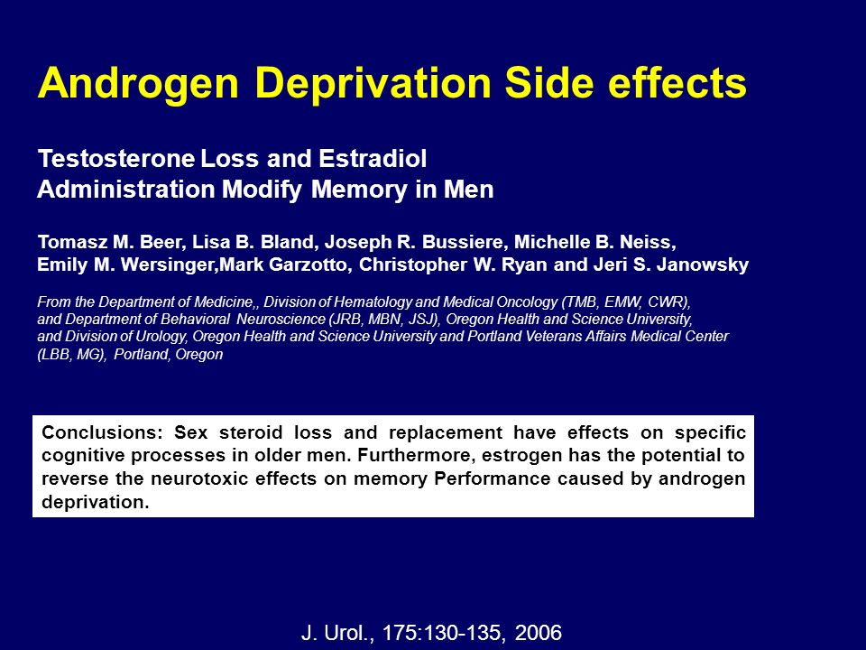 Androgen Deprivation Side effects