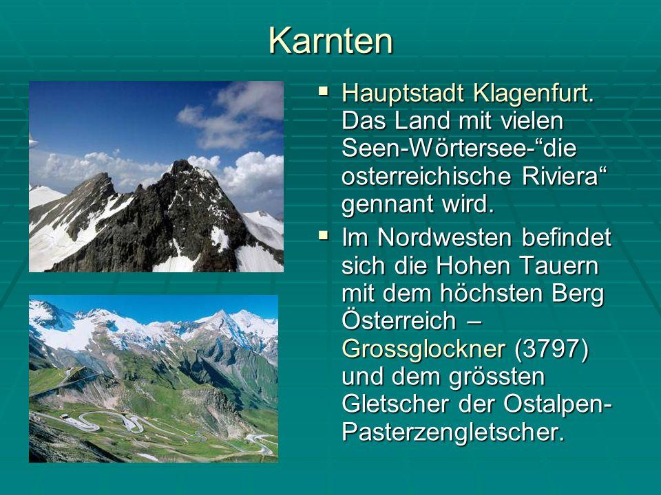 Karnten Hauptstadt Klagenfurt. Das Land mit vielen Seen-Wörtersee- die osterreichische Riviera gennant wird.