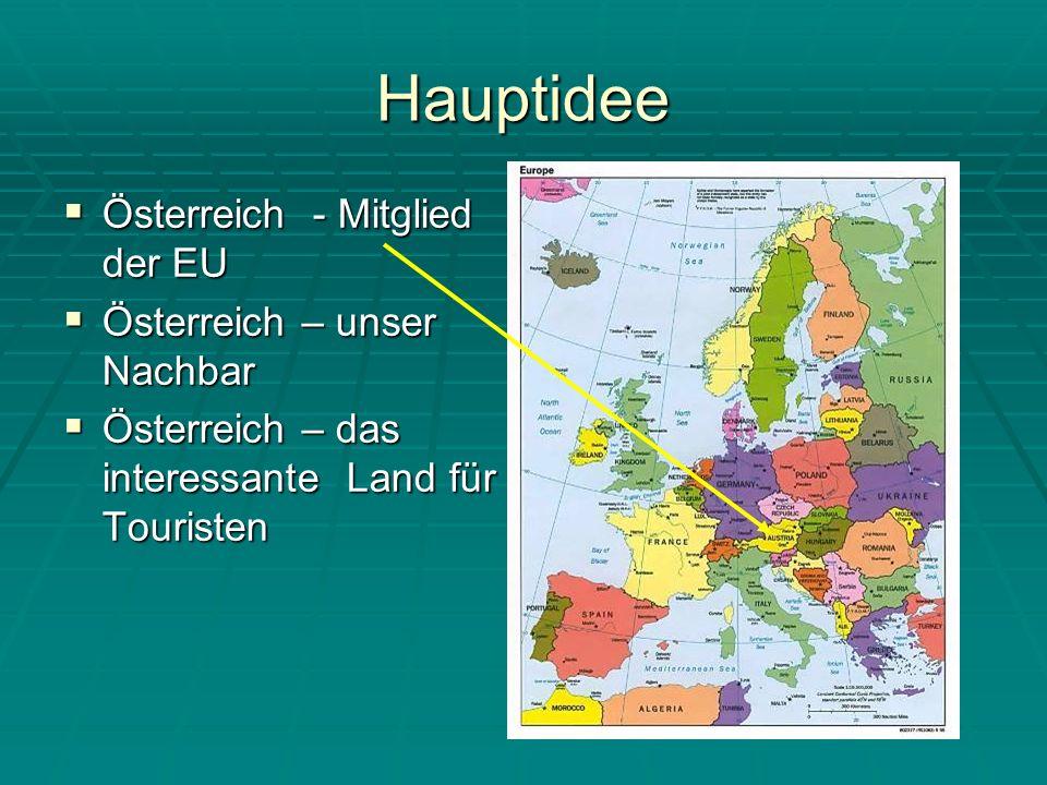 Hauptidee Österreich - Mitglied der EU Österreich – unser Nachbar
