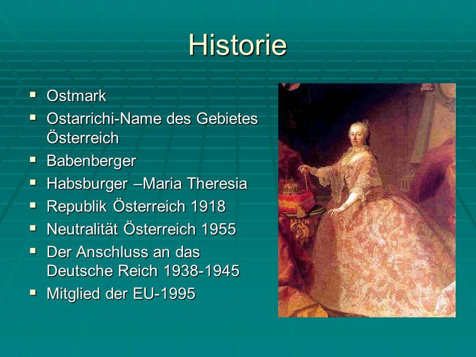 Historie Ostmark Ostarrichi-Name des Gebietes Österreich Babenberger