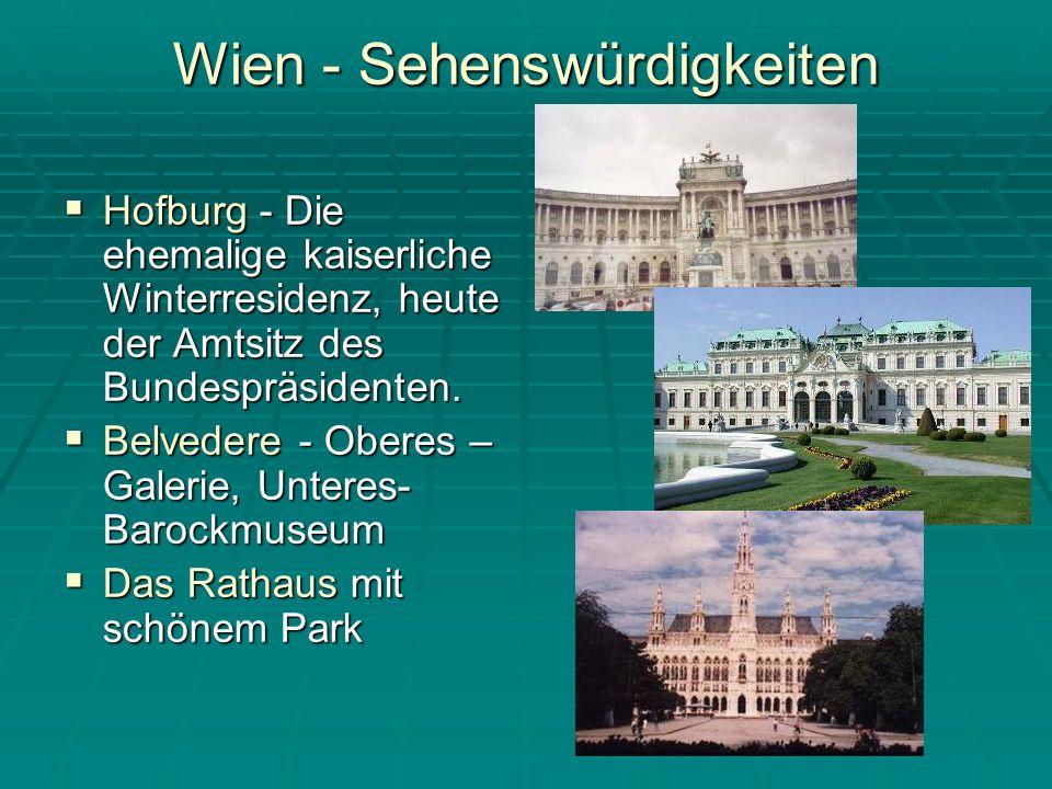 Wien - Sehenswürdigkeiten