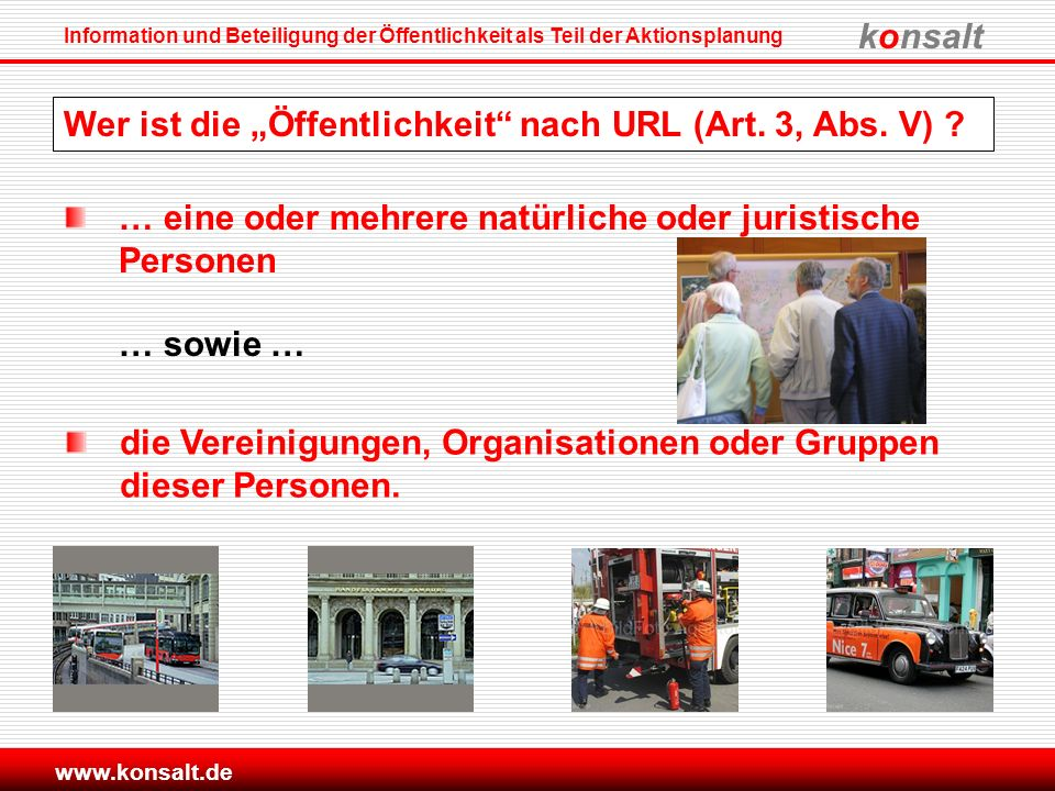 """Wer ist die """"Öffentlichkeit nach URL (Art. 3, Abs. V)"""