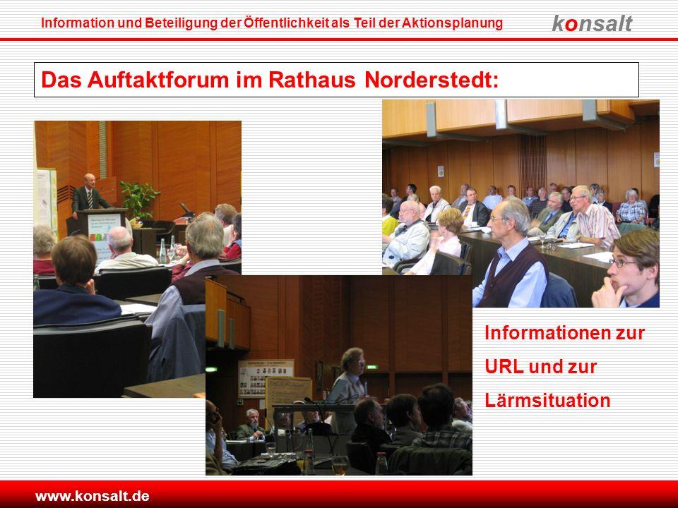 Das Auftaktforum im Rathaus Norderstedt: