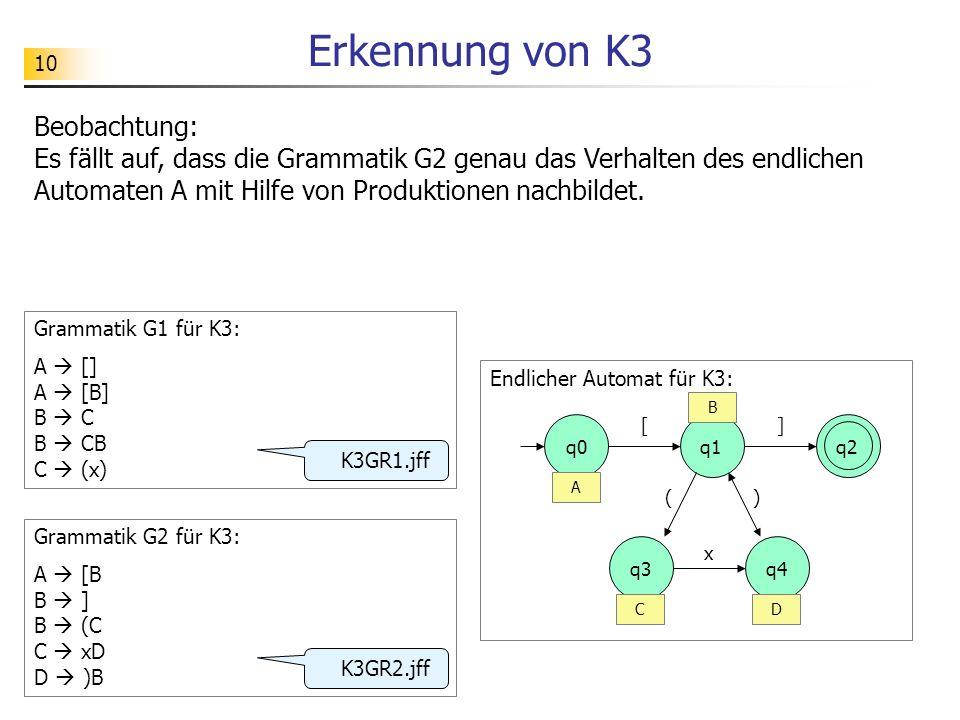 Erkennung von K3