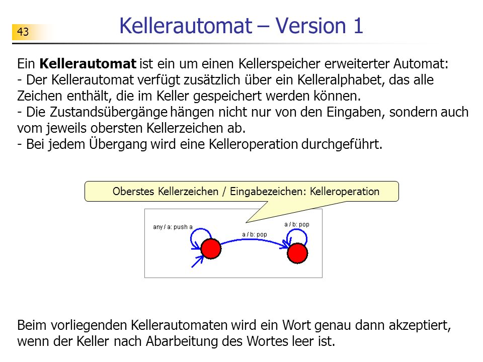 Kellerautomat – Version 1