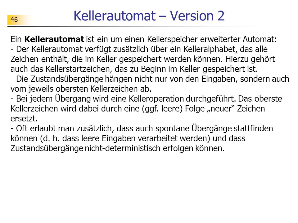 Kellerautomat – Version 2