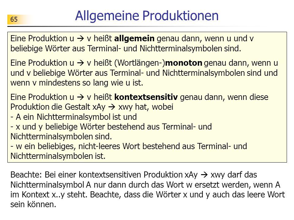 Allgemeine Produktionen