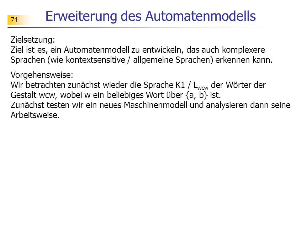 Erweiterung des Automatenmodells