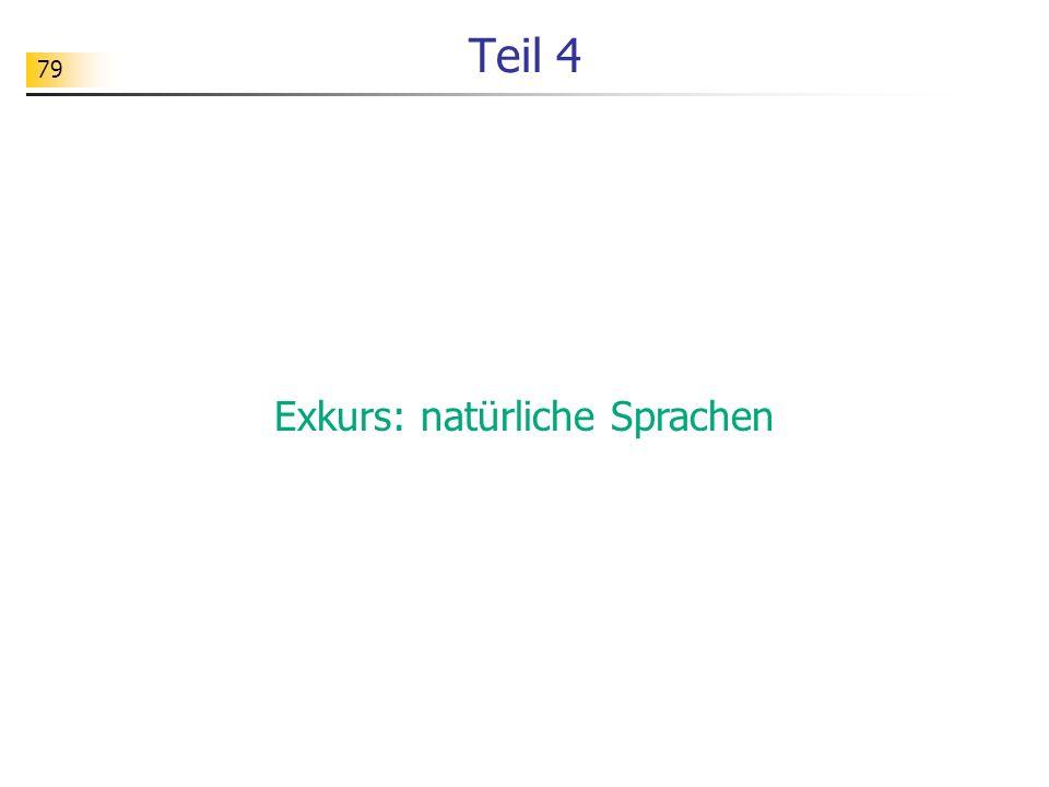 Exkurs: natürliche Sprachen