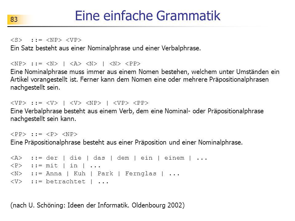 Eine einfache Grammatik