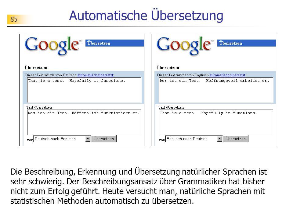 Automatische Übersetzung