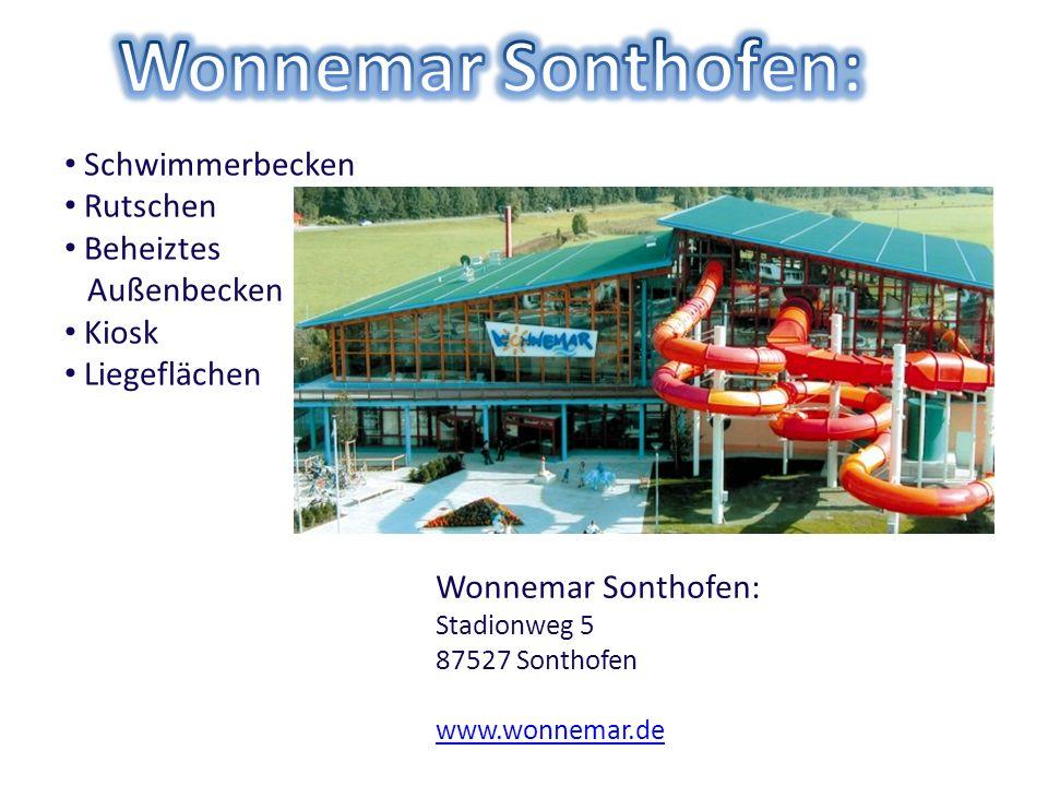 Wonnemar Sonthofen: Schwimmerbecken Rutschen Beheiztes Außenbecken