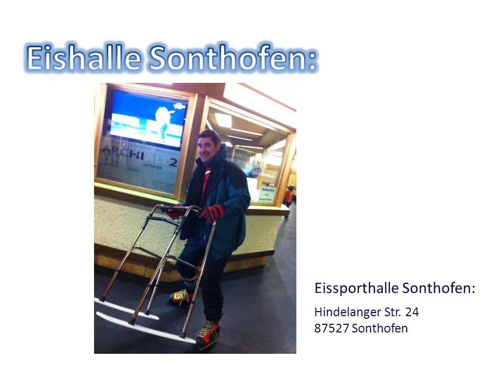 Eishalle Sonthofen: Eissporthalle Sonthofen: Hindelanger Str. 24