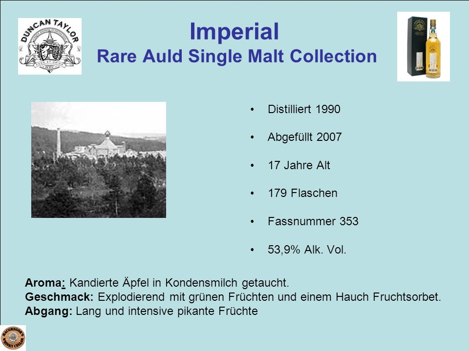 Imperial Rare Auld Single Malt Collection