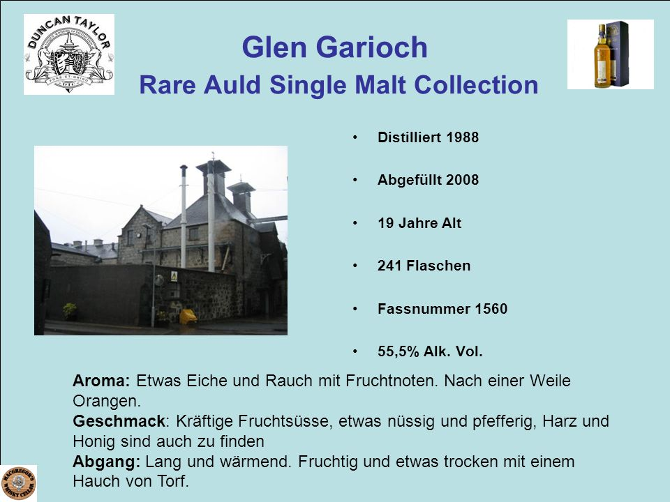 Glen Garioch Rare Auld Single Malt Collection