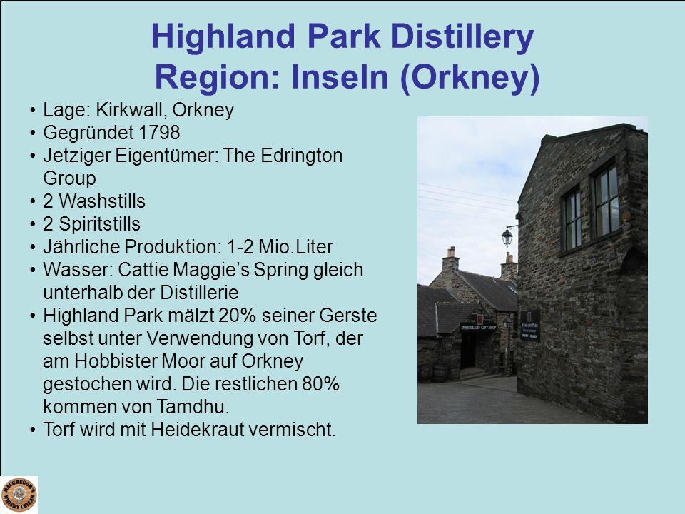 Highland Park Distillery Region: Inseln (Orkney)