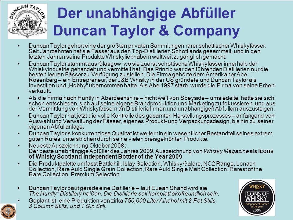 Der unabhängige Abfüller Duncan Taylor & Company