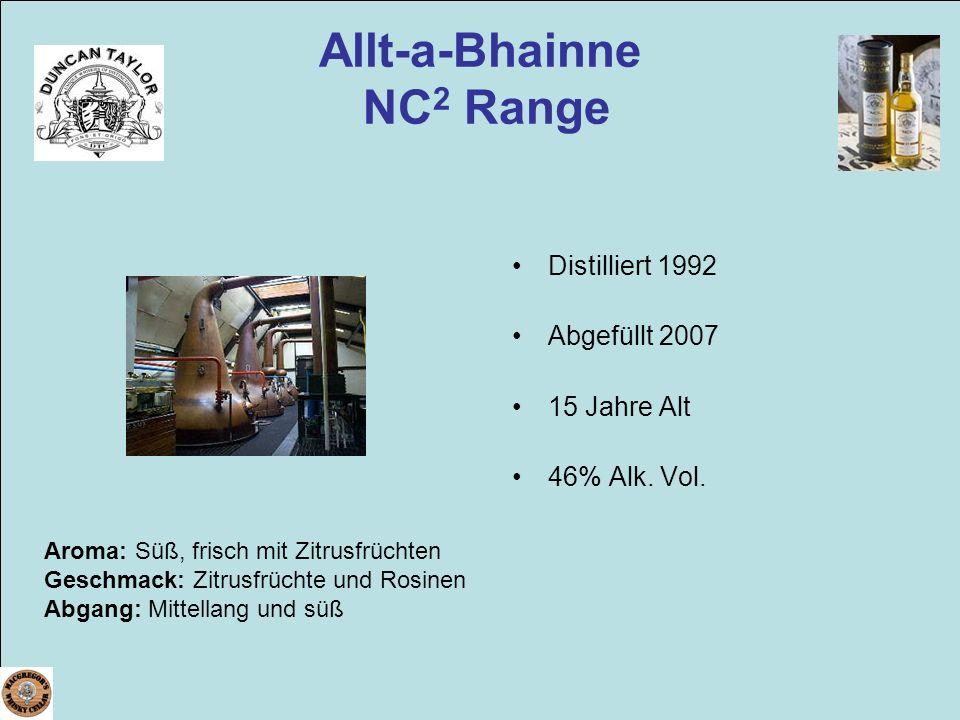 Allt-a-Bhainne NC2 Range
