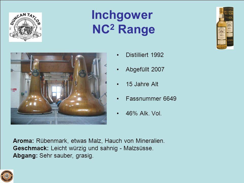 Inchgower NC2 Range Distilliert 1992 Abgefüllt 2007 15 Jahre Alt