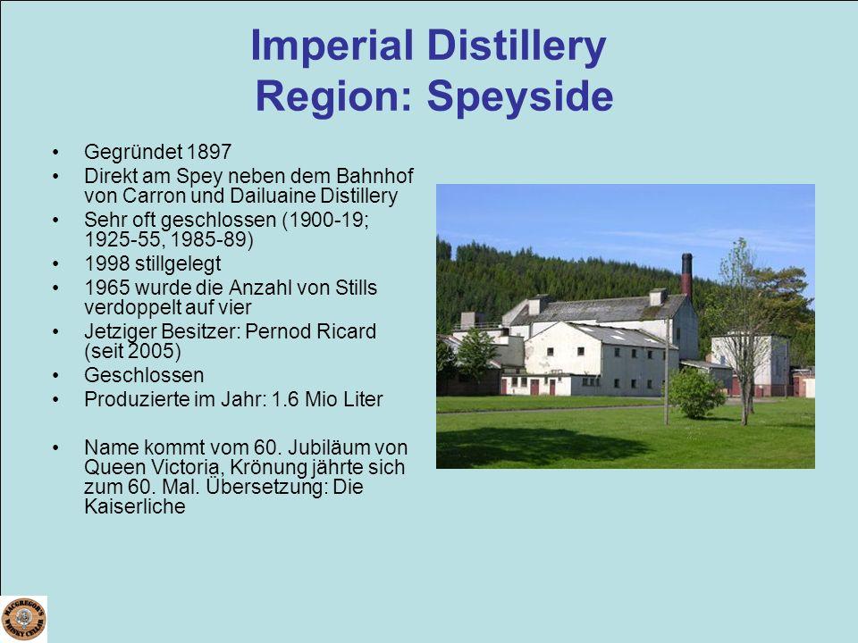 Imperial Distillery Region: Speyside
