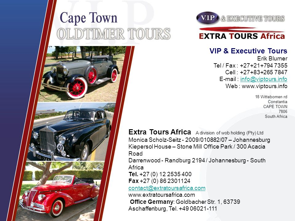 Extra Tours Africa A division of wob holding (Pty) Ltd