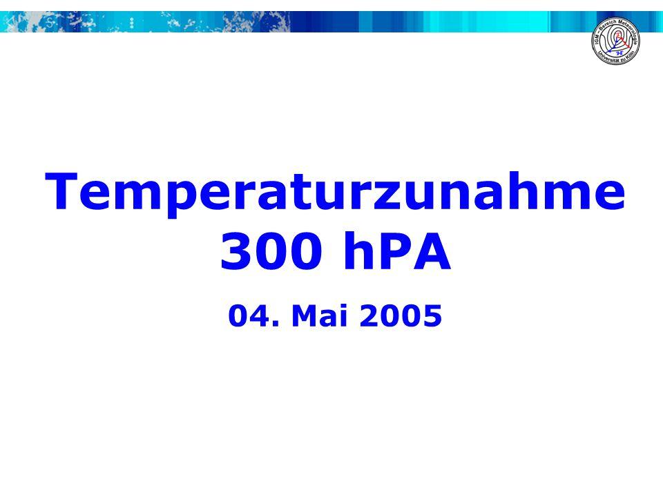 Temperaturzunahme 300 hPA