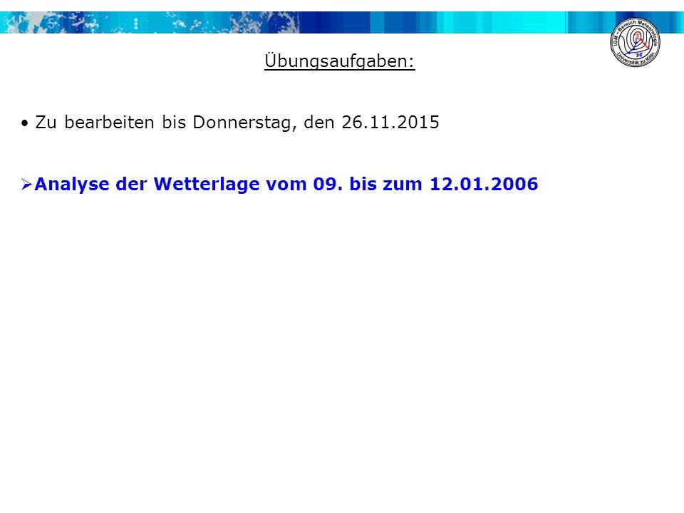 Übungsaufgaben: Zu bearbeiten bis Donnerstag, den 26.11.2015.