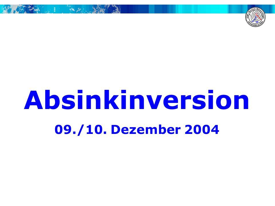 Absinkinversion 09./10. Dezember 2004