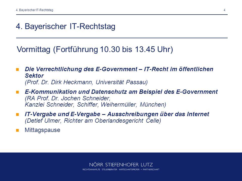 4. Bayerischer IT-Rechtstag