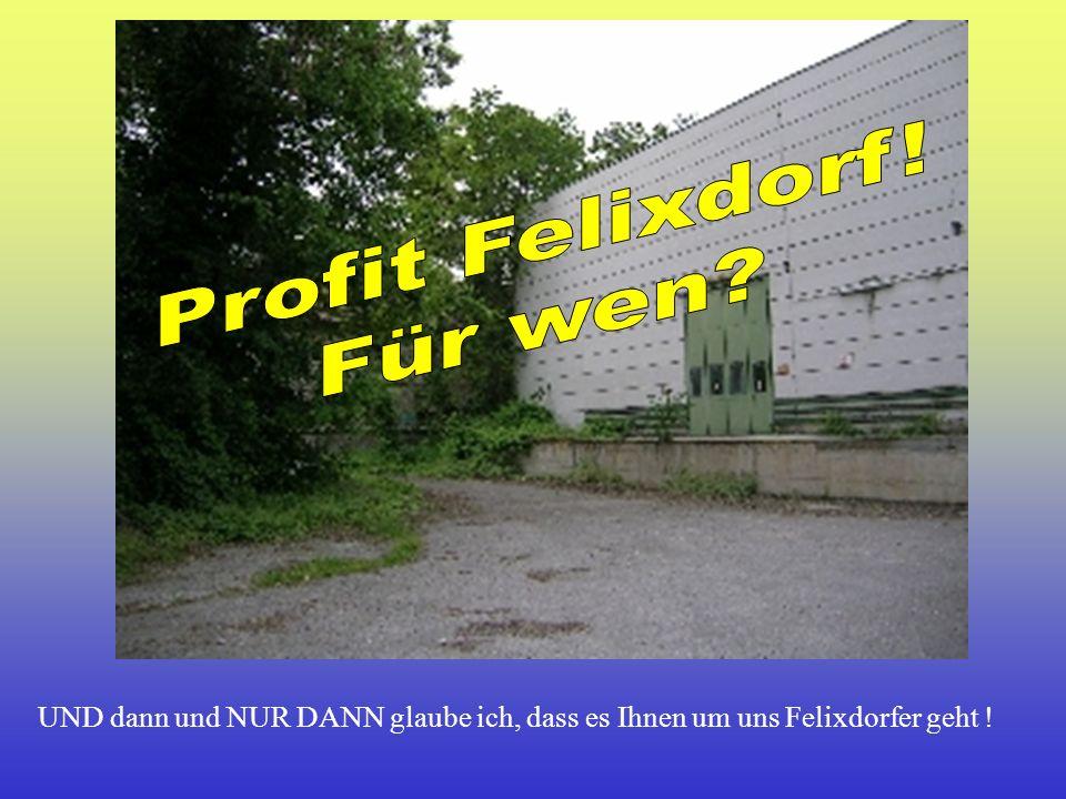 Profit Felixdorf! Für wen