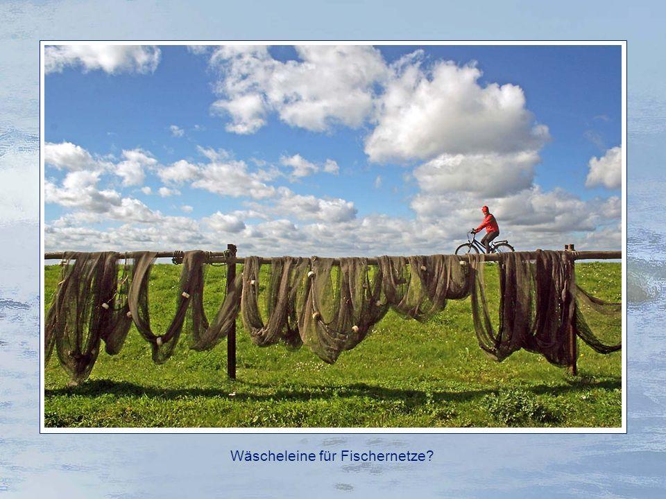 Wäscheleine für Fischernetze