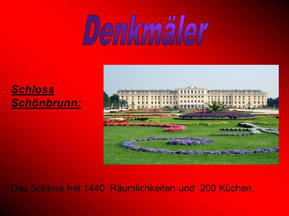 Denkmäler Schloss Schönbrunn:
