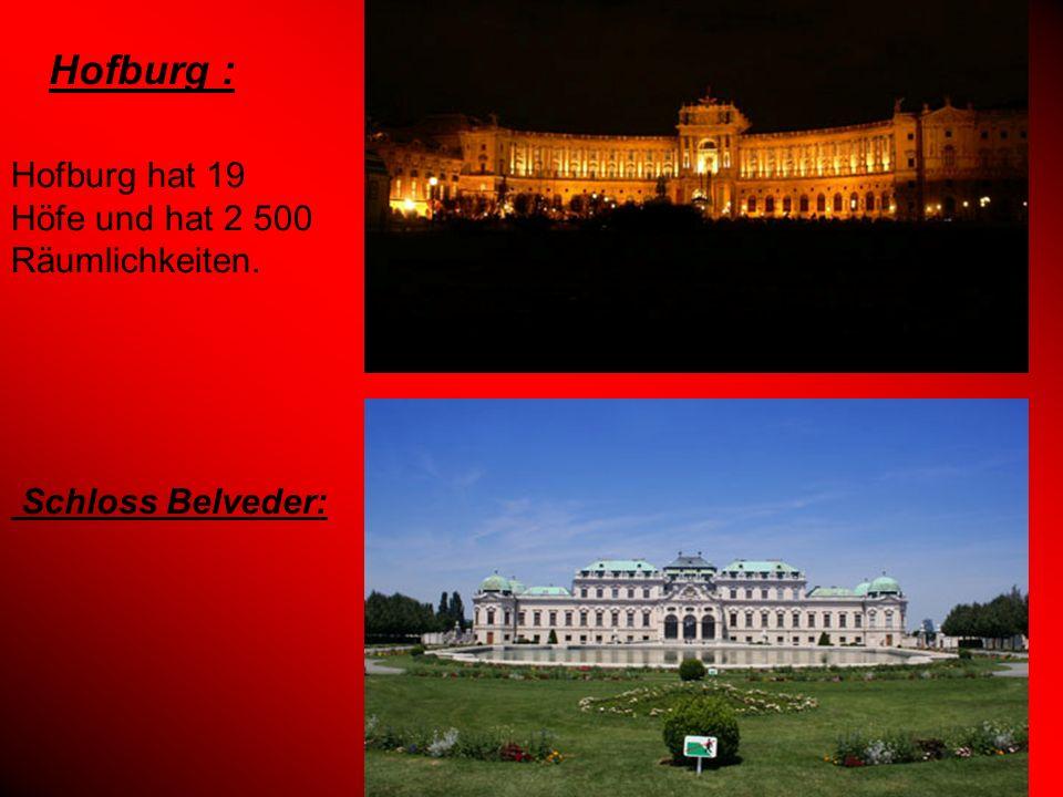 Hofburg : Hofburg hat 19 Höfe und hat 2 500 Räumlichkeiten.