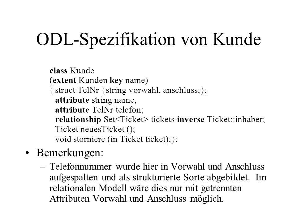 ODL-Spezifikation von Kunde